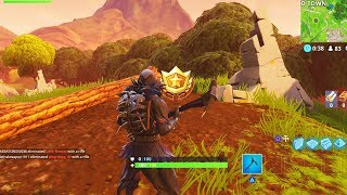 """Search between a Stone Circle, Wooden Bridge, and a Red RV"" Location Fortnite Week 10 Challenges!"