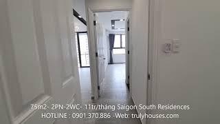 Cho Thuê Căn Hộ 2 Phòng ngủ  75m2 Saigon South Residences giá chỉ 11 triệu/tháng.