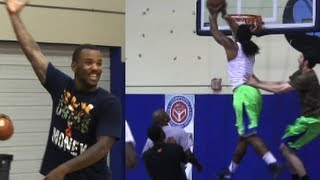 "Rapper ""The Game"" CRAZY Lob to Kwame Alexander for the Dunk!"