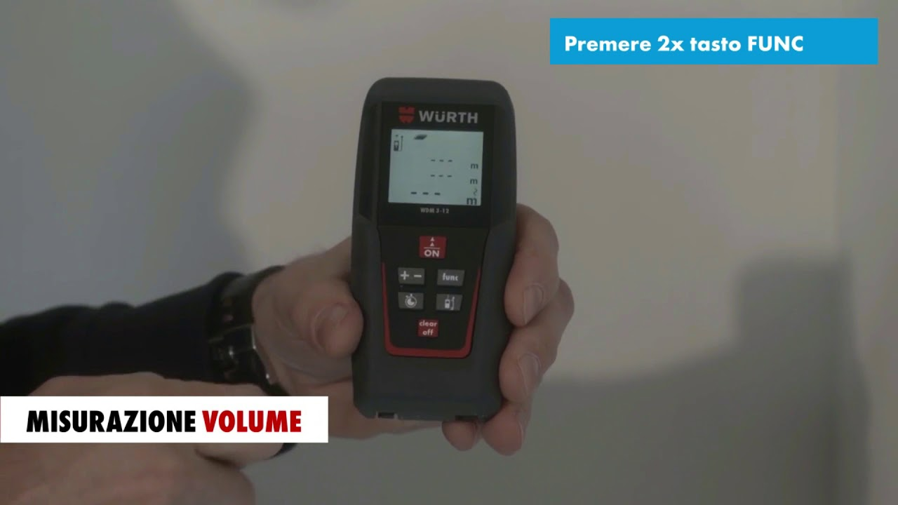 Misuratore laser di distanze wdm würth youtube
