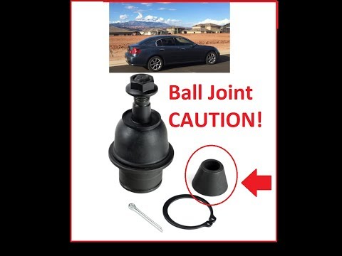 How to change Ball Joints G35/350z Front lower.