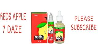 REDS APPLE E JUICE REVIEW BY 7 DAZE