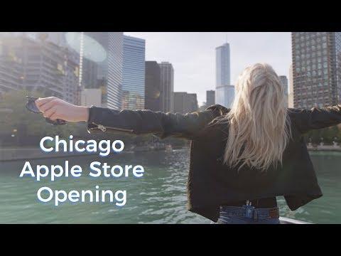Chicago Apple Opening | Karlie Kloss