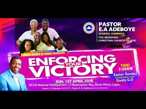 APRIL 2018 THANKSGIVING SERVICE-ENFORCING YOUR VICTORY
