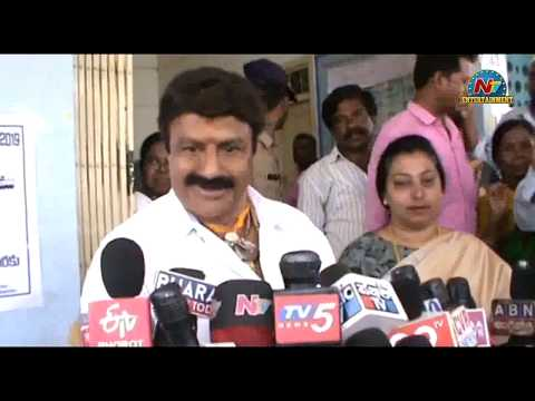 Nandamuri Balakrishna Casts His Vote Along With His Wife | NTV Entertainment