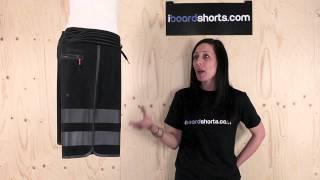 Hurley Phantom Block Party Fuse 3 Boardshorts Black available at iboardshorts.com