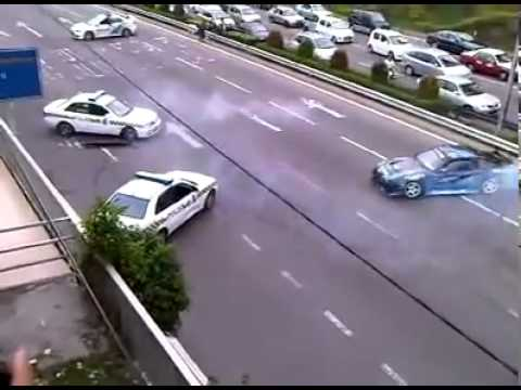 Drift Police Chasing Street Racer On Highway Very Funny Jdm