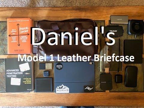 Danielu0027s Leather Model 1 Briefcase And Whatu0027s In My Tech Briefcase EDC  Spring 2019