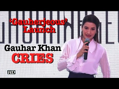 Gauhar Khan CRIES at her Clothing Line 'Gauherjeous' Launch