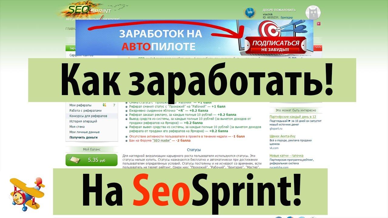 Программы для Заработка на Автопилоте | Как Заработать на Seo Sprint