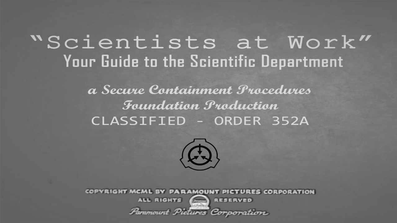 Scp Scientists At Work 1958 Anomaly Log 1988 11 03 Youtube