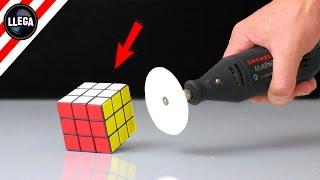 Cortando Un Cubo De Rubik Con Un Papel - Experimentos Caseros