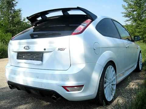 ford focus st 2009 stock exhaust youtube. Black Bedroom Furniture Sets. Home Design Ideas