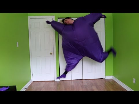 dancing to k-pop songs in a fat suit