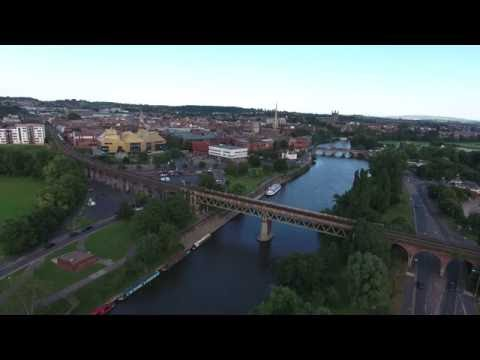 Railway Bridge, River Severn, Worcester, England