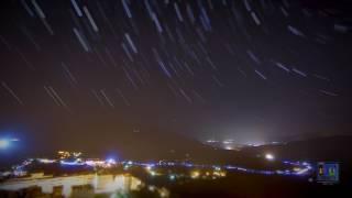 Nuit des Etoiles Filantes 2017 en Timelapse avec trainées d'étoiles Circumpolaire à Sartene en Corse