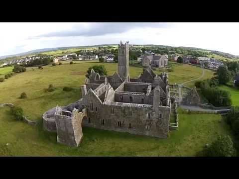 Aerial view of Quin abbey Co. Clare
