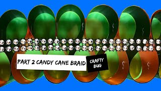 Candy cane tutorial PART 2; finishing & embellishing the braid. Homecoming mum tutorial