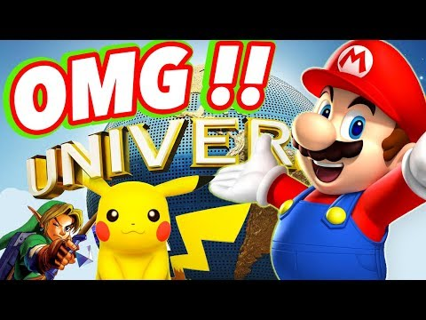 Super Nintendo World - UNIVERSAL STUDIOS 2018 UPDATE - Zelda and Pokemon Theme Park News