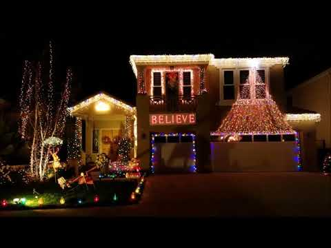 Terrific Neighborhood Holiday Light Display in Moorpark - December 2017