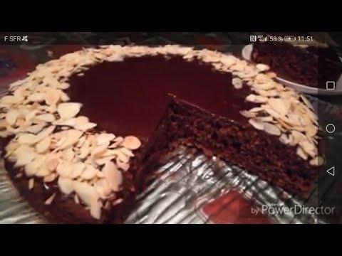 •gateau-chocolat-amandes•🍫-avec-ganache-très-moelleux-!!!