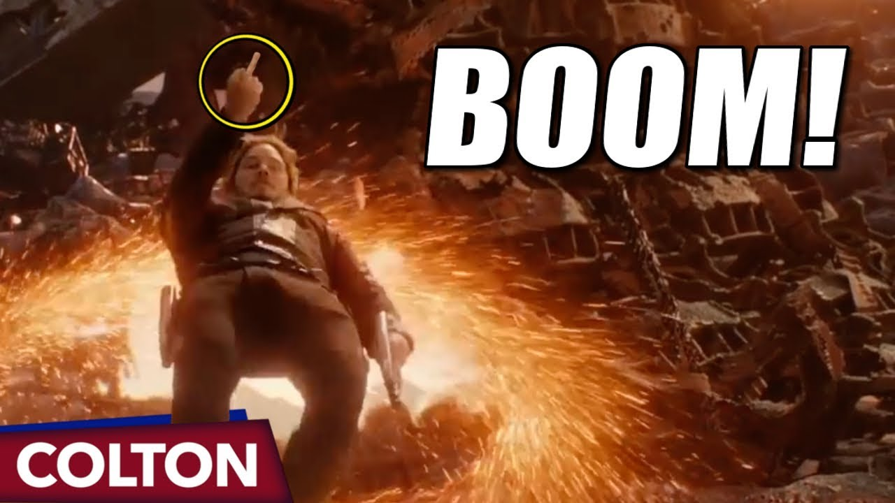 Star Lord Flips Off Thanos In Avengers Infinity War Youtube