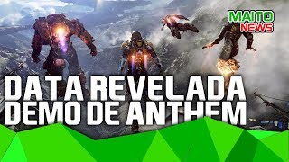 DEMO de ANTHEM ganha data e último ep da série THE WITCHER está sendo escrito