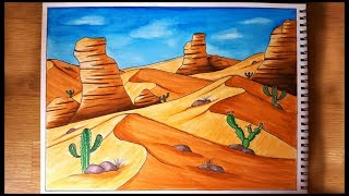 How to Draw A Desert Scenery for Beginners