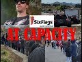 Six Flags Magic Mountain footage - AT CAPACITY