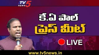 KA Paul Press Meet Live | Praja Shanti Party | TV5 Telugu Live