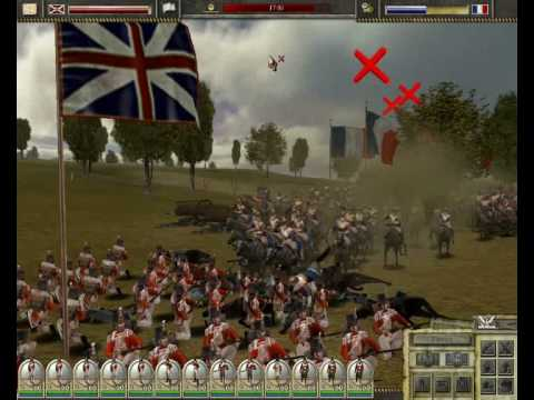 Imperial Glory (game by Pyro studios) The Allied squares at WATERLOO charged by French cavalry |