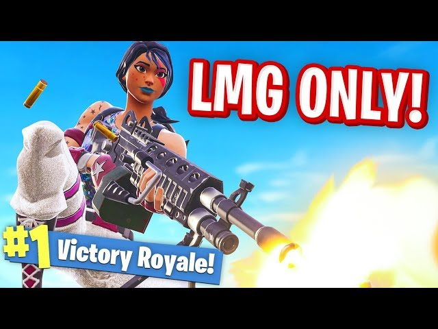 LMG ONLY CHALLENGE in Fortnite Battle Royale