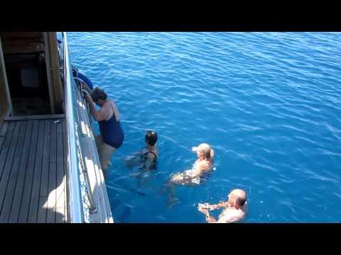Treasures of Turkey 2011 -  Antalya Swim during boat trip