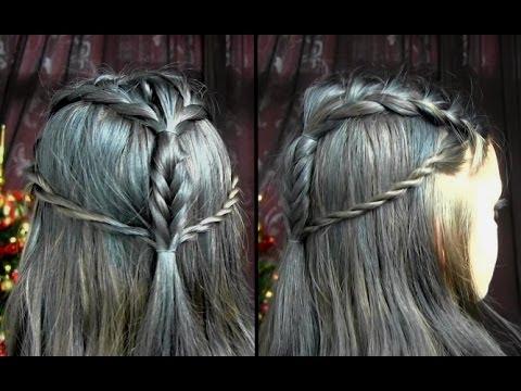 Tauriel Hair Tutorial   The Hobbit - YouTube
