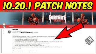 Fortnite Update Today 10.20.1 Patch Notes (v10.20.1 Stability Fixes)