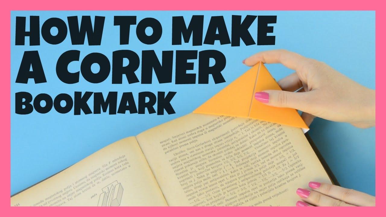 How To Make A Corner Bookmark ~ How to make diy origami corner bookmarks youtube