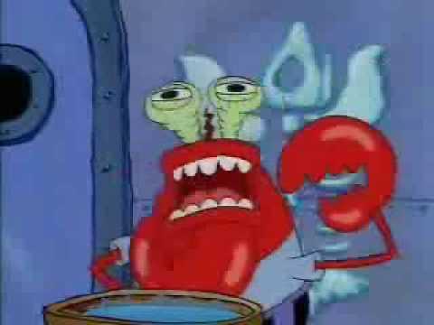 mr krabs choking while i play unfitting music - YouTube