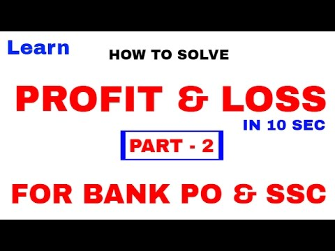 Profit and Loss Tricks  For Bank PO and SSC CGL [In Hindi] Part 2