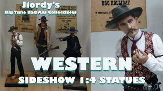 WESTERN LEGENDS John Wayne Doc Holliday Wyatt Earp Sideshow Premium Format Figures 1/4 Scale