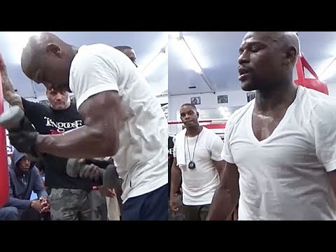Thumbnail: (BEAST) FLOYD MAYWEATHER BULKING UP TO DESTROY CONOR MCGREGOR AT 154; SLAMS WEIGHTS AROUND