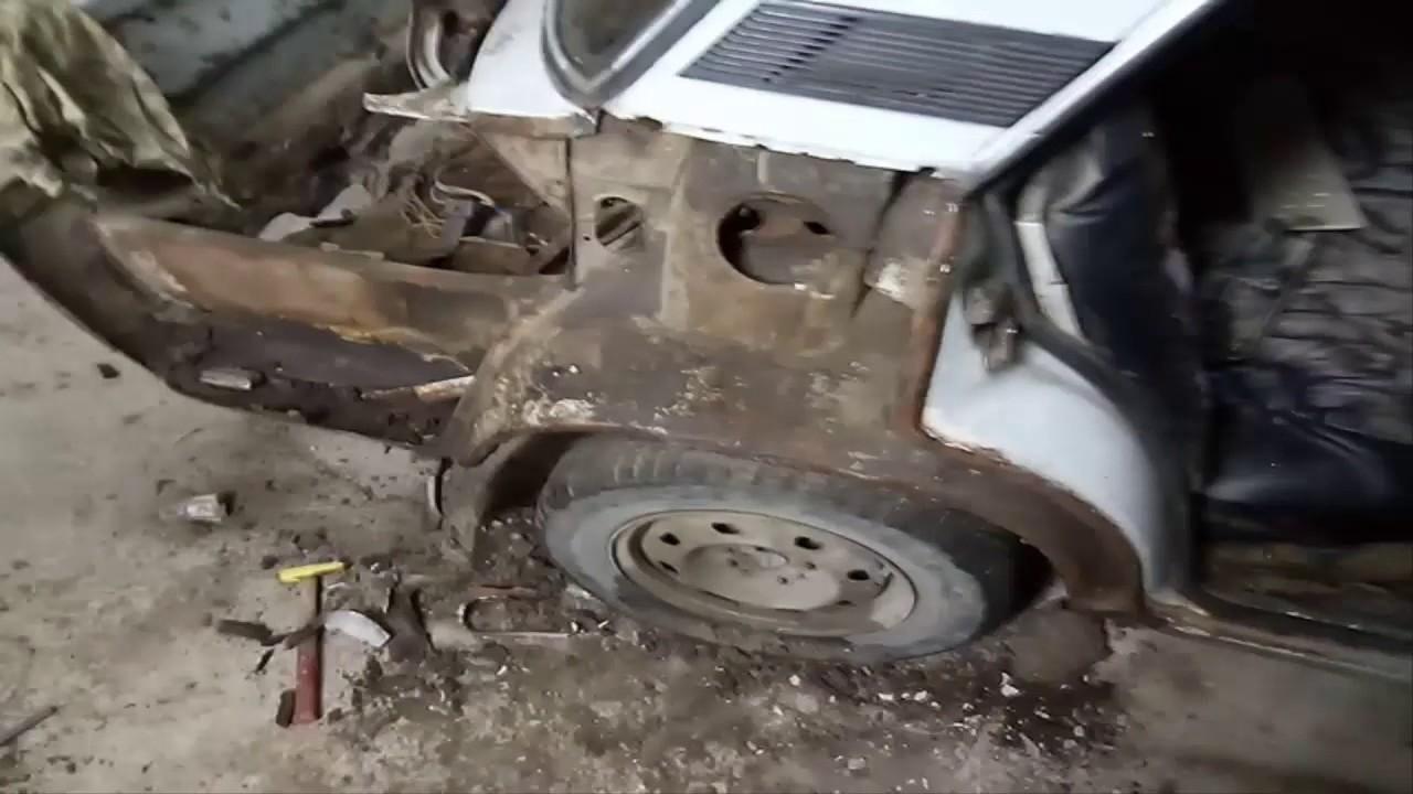 ВАЗ 2106 замена полика бензобака, полика под запаску, ремонт .