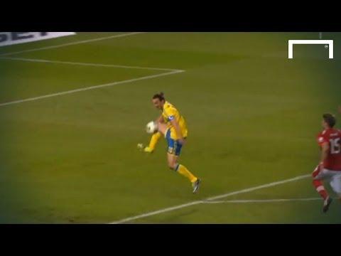 Zlatan Ibrahimović great goal - Sweden v Austria