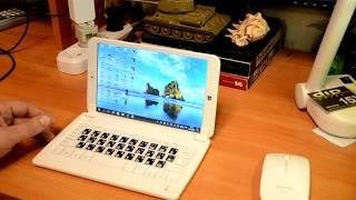 Обзор клавиатуры и мыши для планшета 8' Windows 10.Тест старых игр...
