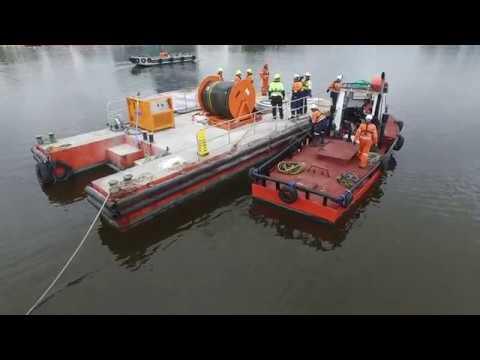 Marine oil spill response equipment demonstration (Video)
