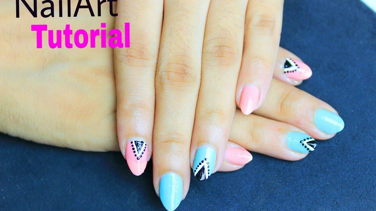 Triangle Nail Art Tutorial How To Make Easy Nail Polish Design At