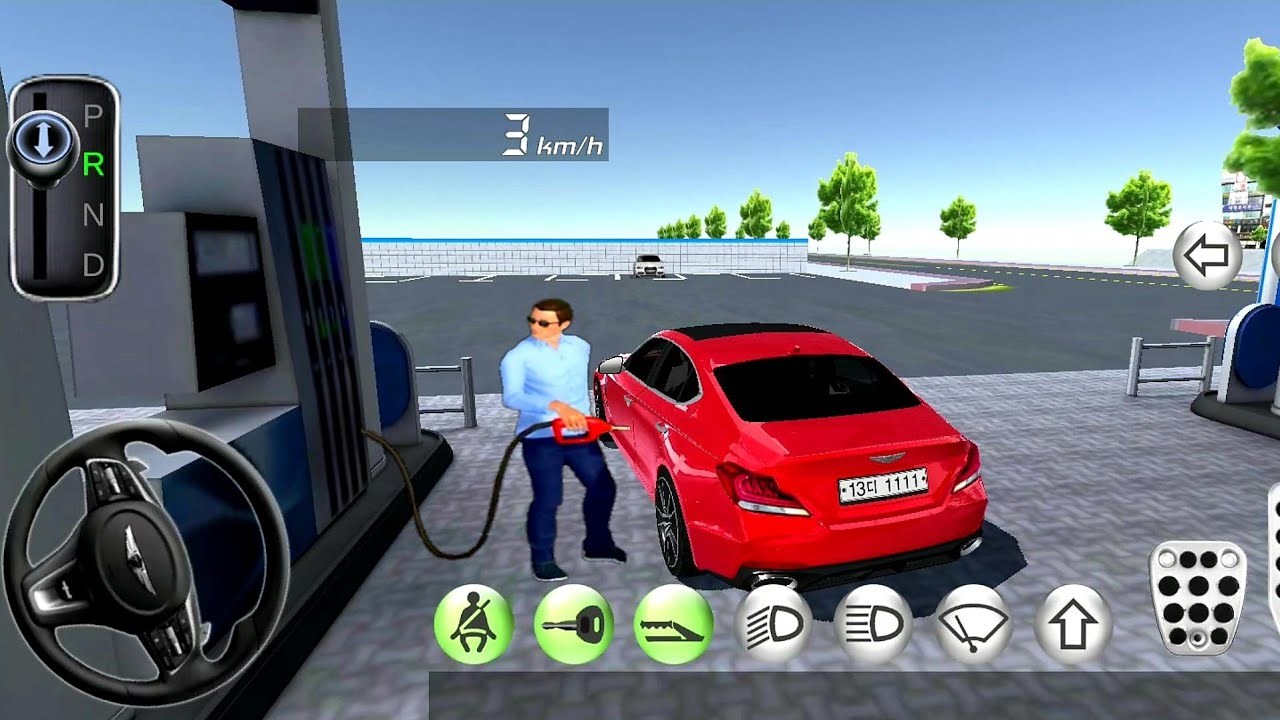 3d Driving Class 37 Gas Station And Flying Airplane Car Games Android Gameplay Youtube