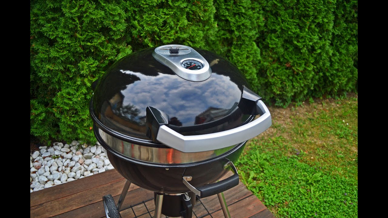 Napoleon Holzkohlegrill Charcoal Rodeo Professional Cart : Napoleon rodeo kettle charcoal grill video review by