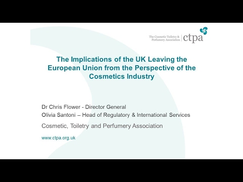 The Implications of Brexit from the Perspective of the Cosmetics Industry