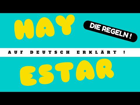 Spanisch lernen online - LIVESTREAM #1 - Onlinekurs: HAY - ESTAR !