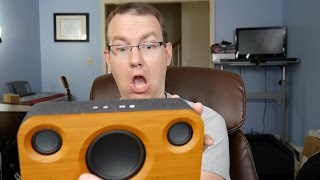 Beautiful 25W Bamboo Bluetooth Speaker for Under $100! Archeer A320